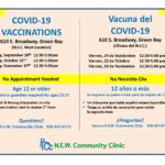 COVID 19 Vaccination Clinic @ W.I.C. West Location